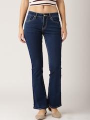 DressBerry Blue Slim Bootcut Jeans