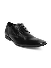 Alberto Torresi Men Black Leather Derby Shoes