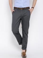 Blackberrys Grey Sharp Fit Casual Trousers