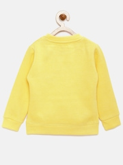 YK Disney Girls Yellow Printed Sweatshirt