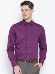 Blackberrys Purple Paisley Print Slim Semiformal Shirt