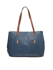 Hidesign Blue Leather Shoulder Bag