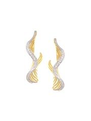 Mia by Tanishq 4.2 g 14-Karat Gold Precious Earrings with Diamonds