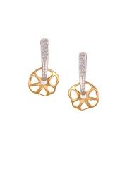 Mia by Tanishq 2.36 g 14-Karat Gold Precious Earrings with Diamonds