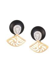 Mia by Tanishq 2.86 g 14-KT Gold Precious Earrings with Diamonds & Onyx