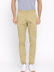 Highlander Khaki Slim Fit Chino Trousers
