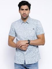 Originals by Jack & Jones Blue Printed Slim Casual Shirt