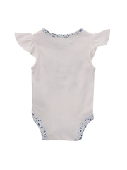 mothercare Girls White Printed Bodysuit