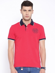 Being Human Clothing Red Polo T-shirt