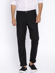Louis Philippe Black Casual Trousers