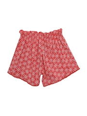 mothercare Girls Red Floral Print Shorts