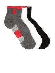 Playboy Men Set of 3 Assorted Ankle-Length Socks