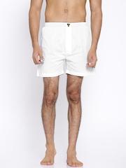 Playboy White Boxers LW17
