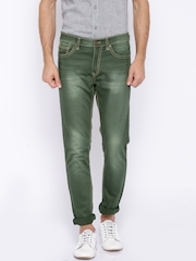 SPYKAR Olive Green Casual Trousers