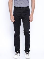 SPYKAR Black Casual Trousers