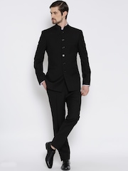 Brahaan BLUE TAG Black Single-Breasted Formal Suit
