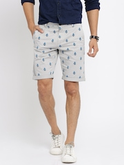 Mast & Harbour Grey Printed Shorts