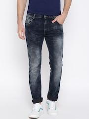 Pepe Jeans Men Black Regular Fit Mid Rise Clean Look Jeans