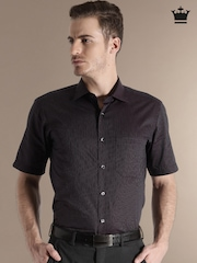 Louis Phillipe Burgundy Striped Formal Shirt