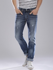 Levi's Blue Skinny Straight Fit Jeans 65504