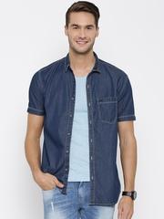 Numero Uno Blue Slim Fit Denim Shirt