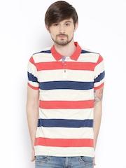 Numero Uno Multicoloured Striped Polo T-shirt