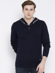 SPYKAR Navy Hooded Sweater