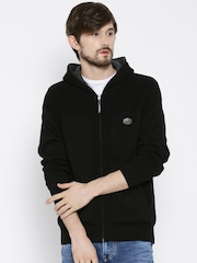 SPYKAR Black Hooded Cardigan