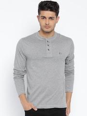 Jockey Grey Melange Henley T-shirt