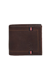 U.S. Polo Assn. Men Brown Genuine Leather Wallet