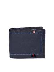 U.S. Polo Assn. Men Navy Leather Wallet