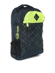 THe VerTicaL Unisex Navy Printed Laptop Backpack