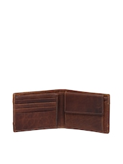 THe VerTicaL Men Brown Genuine Leather Wallet