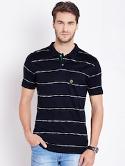 Duke Navy Striped Polo T-shirt