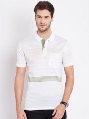 Duke Off-White Striped Polo T-shirt