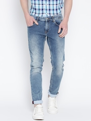 Indian Terrain Blue Washed Brooklyn Slim Fit Jeans