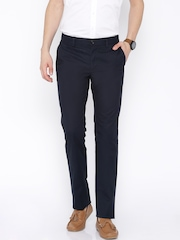 Indian Terrain Navy Bronx Slim Fit Chino Trousers