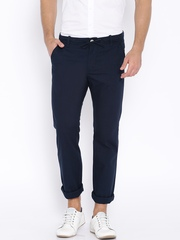 Indian Terrain Navy Bronx Slim Fit Trousers