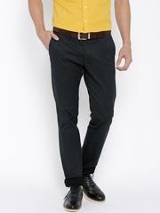 Indian Terrain Navy Brooklyn Slim Fit Smart Casual Trousers