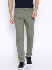 Indian Terrain Grey Brooklyn Fit Casual Trousers