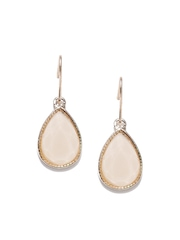 Accessorize Gold-Toned & Peach-Coloured Drop Earrings