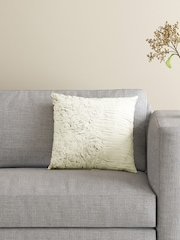 BOMBAY DYEING Off-White Single 16'' x 16'' Square Cushion with Cover