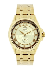 Titan Men Gold-Toned Dial Watch 1693YM01