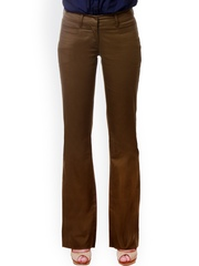 KAARYAH Brown Boot-Cut Trousers