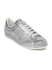 Adidas Originals Men Silver-Toned Superstar Metallic Sneakers