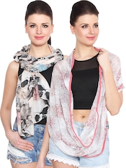 J Style Pack of 2 Printed Stoles
