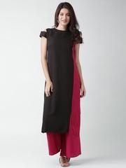 GERUA Black & Pink Kurta with Palazzo Trousers