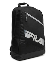 FILA Unisex Black Printed Backpack