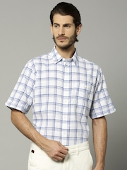 Marks & Spencer Blue & White Casual Shirt