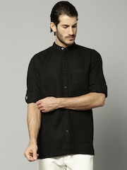 Marks & Spencer Black Linen Casual Shirt